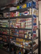 Food Stocked at the Outreach House