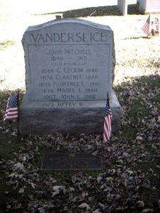Vanderslice Memorial Headstone
