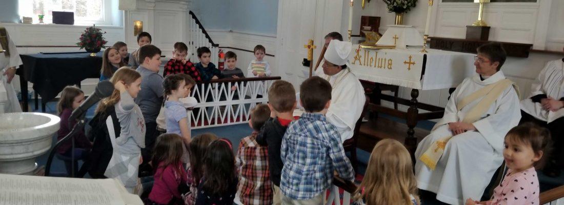 Bishop Gutiérrez with Children