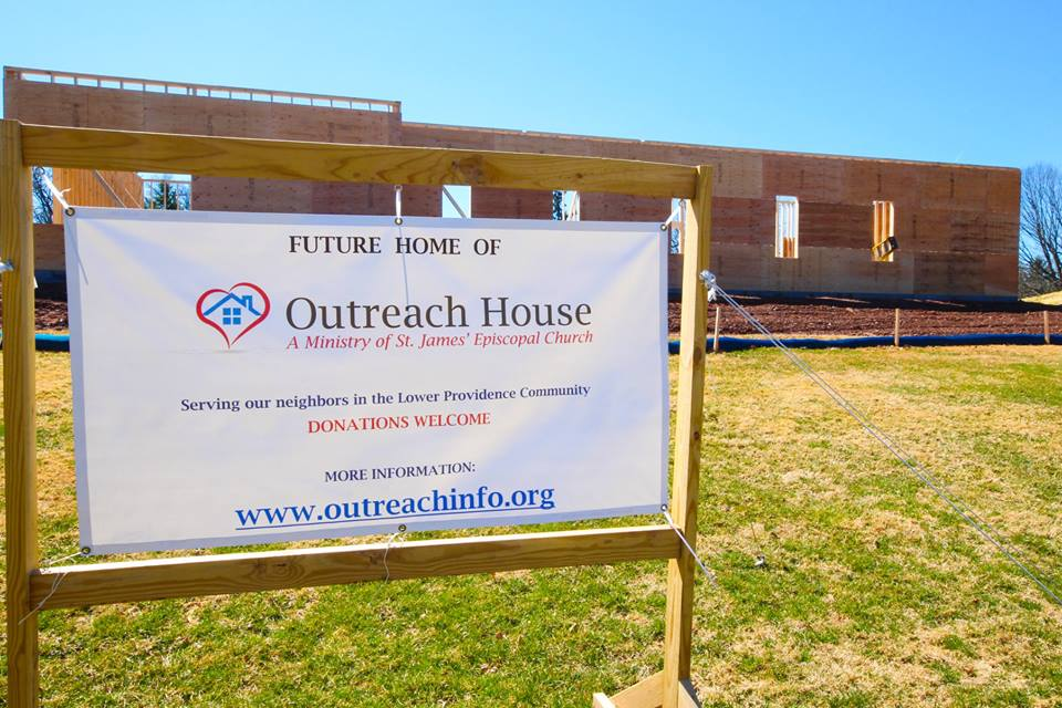 Outreach House Coming Soon Sign
